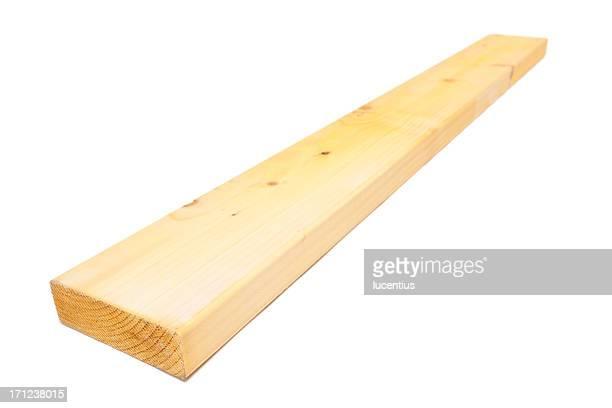 Holz plank, isoliert auf weiss