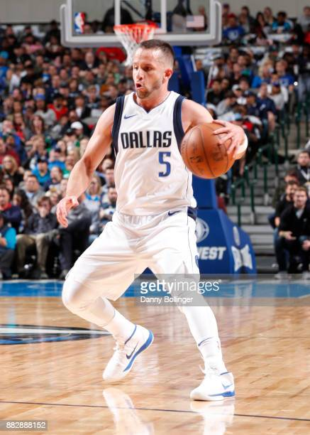 J Barea of the Dallas Mavericks dribbles the ball against the Brooklyn Nets on November 29 2017 at the American Airlines Center in Dallas Texas NOTE...