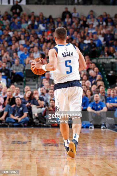 J Barea of the Dallas Mavericks dribbles the ball up court against the Atlanta Hawks at the American Airlines Center in Dallas Texas on October 18...