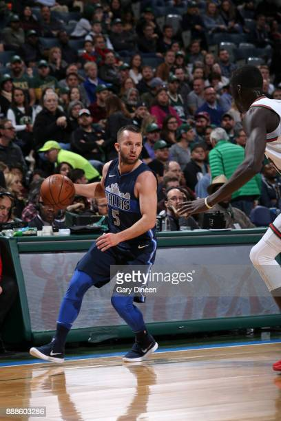 JJ Barea of the Dallas Mavericks handles the ball against the Milwaukee Bucks on December 8 2017 at the Bradley Center in Milwaukee Wisconsin NOTE TO...
