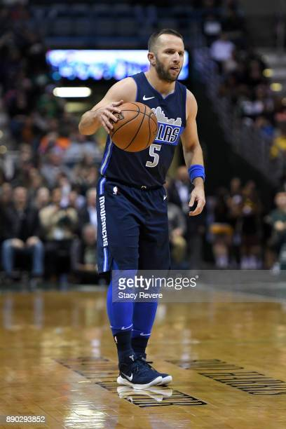 J Barea of the Dallas Mavericks handles the ball during a game against the Milwaukee Bucks at the Bradley Center on December 8 2017 in Milwaukee...