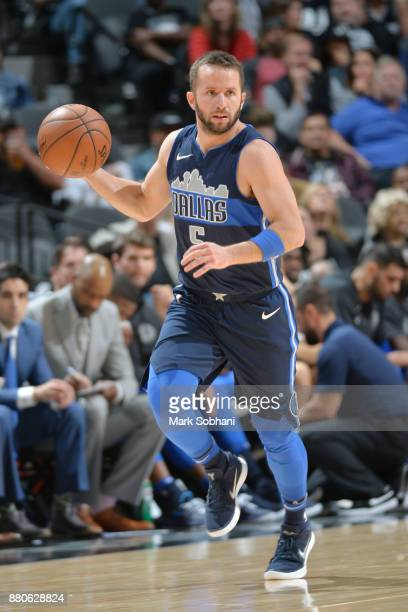 J Barea of the Dallas Mavericks jocks for a position against the San Antonio Spurs on November 27 2017 at the ATT Center in San Antonio Texas NOTE TO...