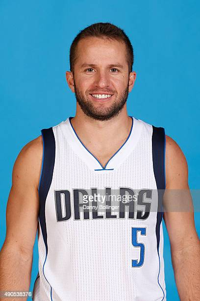J Barea of the Dallas Mavericks poses for a head shot during Media Day on September 28 2015 at the American Airlines Center in Dallas Texas NOTE TO...