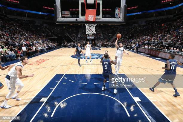 J Barea of the Dallas Mavericks shoots the ball against the Minnesota Timberwolves on December 10 2017 at Target Center in Minneapolis Minnesota NOTE...