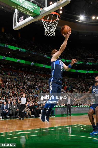 J Barea of the Dallas Mavericks shoots the ball during the game against the Boston Celtics on December 6 2017 at the TD Garden in Boston...