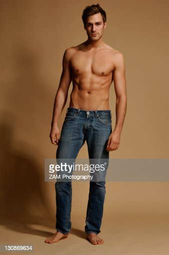 Is Bare Minerals Makeup Cruelty Free: Barechested Man In Jeans Stock Photo