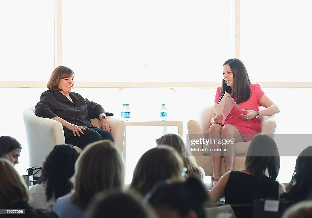 Barefoot Contessa host Ina Garten (L) Forbes Woman publisher Moira Forbes take part in the 2015 Forbes Women's Summit: Transforming The Rules Of Engagement at Pier 60 on June 10, 2015 in New York City.