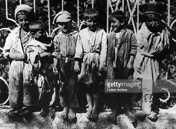 Barefoot Russian orphans in the RostovonDon area
