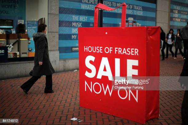 Bargain hunters go shopping as stores start their traditional boxing day sales on December 26 2008 in Birmingham England Retailers are offering...