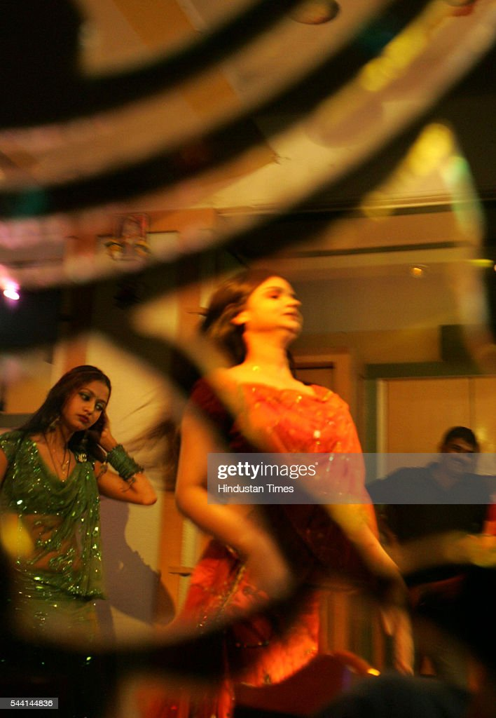 Bargirls giving their last performance at Karishma Bar, Dadar during the last day of dance bars.