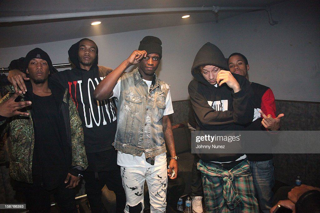 Bari, A$AP Ant, A$AP Nast, A$AP Illz and A$AP Ty Beats of the A$AP Mob attend the Highline Ballroom on December 27, 2012 in New York City.