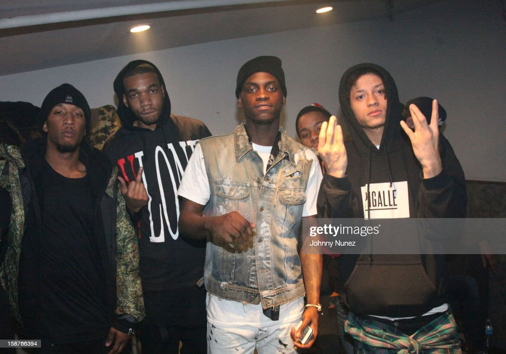 Bari, A$AP Ant, A$AP Nast and A$AP Illz of the A$AP Mob attend the Highline Ballroom on December 27, 2012 in New York City.