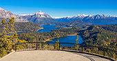 Cerro Campanario viewpoint near Bariloche in Nahuel Huapi National Park, Patagonia region in Argentina.