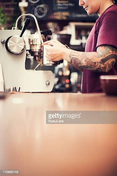 barista kaffee stock fotos und bilder getty images. Black Bedroom Furniture Sets. Home Design Ideas