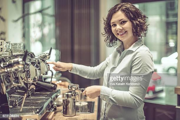 Barista ist eine Kaffee