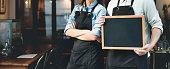 Barista Staff Working Coffee Shop Concept