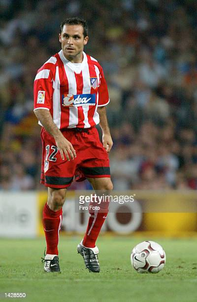 Barjuan Sergi of Atltico Madrid in action during the Primera Liga match between Barcelona and Atletico Madrid played at the Camp Nou Stadium...