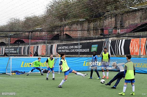 Barking EJA and HP8 during the People's Cup SemiFinals London City on February 27 2016 in London England