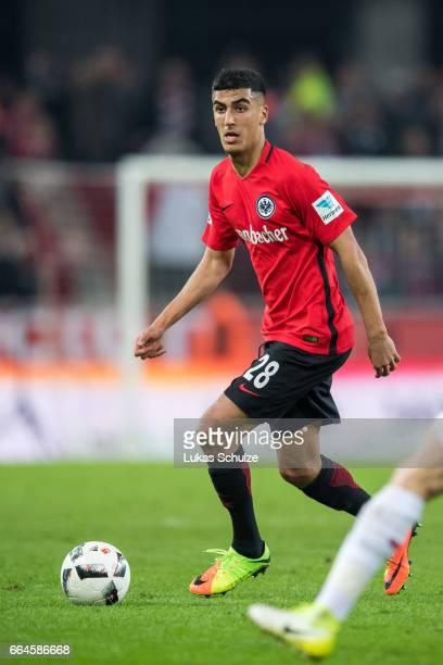 Barkok Aymen of Frankfurt in action during the Bundesliga match between 1 FC Koeln and Eintracht Frankfurt at RheinEnergieStadion on April 4 2017 in...