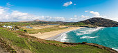 On the road to Mizen Head I enjoyed this panoramic view of the famous beach Barley Cove.