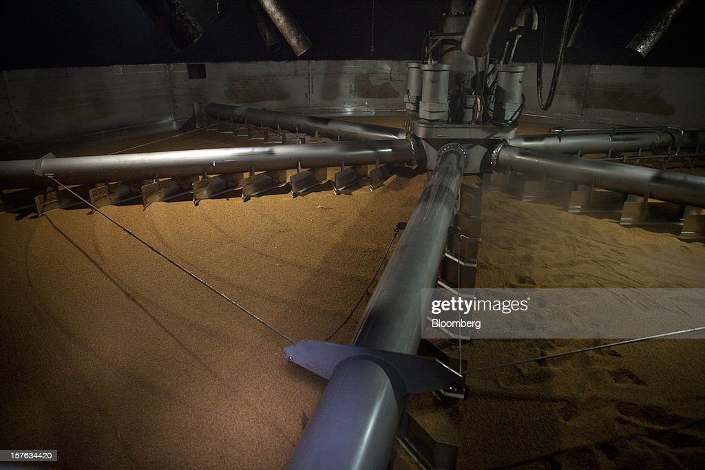 Barley grain is seen being processed in a stepping house at the Groupe Soufflet plant in Nogent-sur-Seine, France, on Tuesday, Dec. 4, 2012. European Union corn imports may be the second-highest on record this season after drought parched crops and a surge in wheat exports curbed domestic grain supply. Photographer: Balint Porneczi/Bloomberg via Getty Images