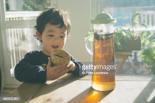 Barley tea. : Stock Photo