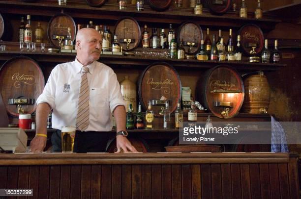 Barman at 'Hoppe' Bar.