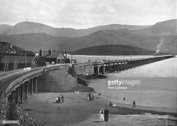 Barmouth Bridge and Cader Idris c1900Also known as Barmouth Viaduct is a singletrack largely wooden railway viaduct that carries the Cambrian Coast...