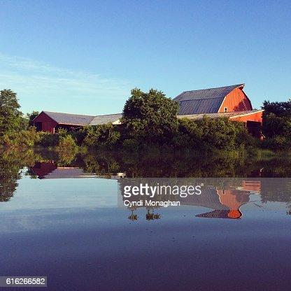 Barn Reflections : Stock Photo