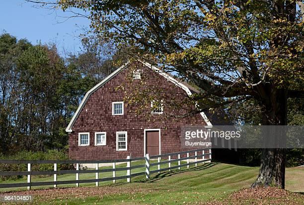 Barn scene in Litchfield Connecticut