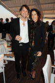 Barnaby Thompson and Christina Robert attend Finch's Quarterly Cannes Dinner 2010 at the Hotel du Cap as part of the 63rd Cannes Film Festival on May...