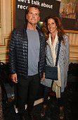 Barnaby Thompson and Christina Robert attend the 'People Places Things' Charity Gala in aid of Action On Addiction at Wyndhams Theatre on June 14...