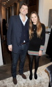 Barnaby Thompson and daughter Esme attend the Dreamworks PreBAFTA Tea Party in celebration of 'The Help' and 'War Horse' at The Arts Club on February...