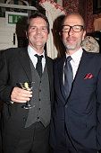 Barnaby Thompson and Eric Fellner attend the Charles Finch and Jean Pigozzi dinner with Mulberry Chairman Godfrey Davis at Harry's Bar on October 15...