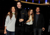 Barnaby Thompson Christina Robert and family attend a postscreening party for 'The Last Impresario' during the 57th BFI London Film Festival at The...