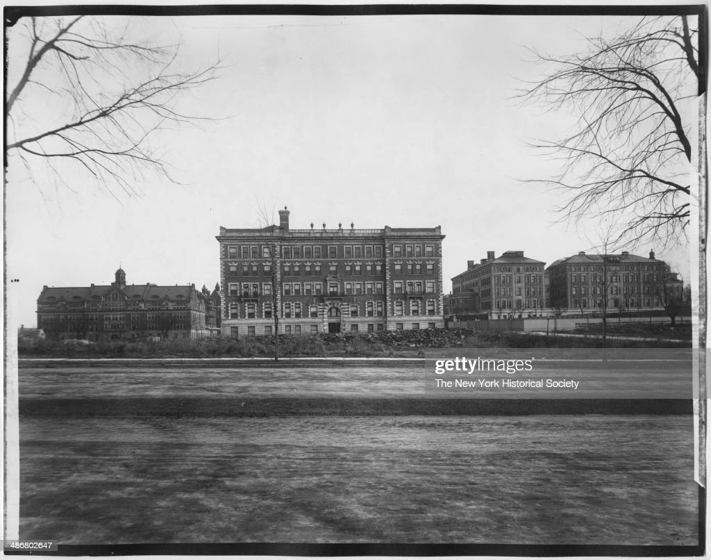 Barnard College and Columbia College New York New York 1895 View from Riverside Drive
