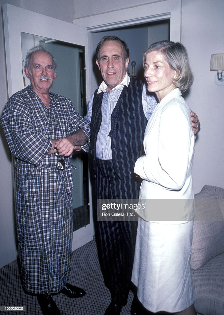 Barnard Hughes, Jason Robards and Lois Robards during 'The Iceman Cometh' Opening Night at Lunt Fontanne Theater in New York City, New York, United States.
