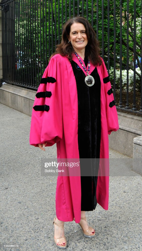 Barnard President Debora Spar attends the 2012 Commencement at Barnard College on May 14 2012 in New York City