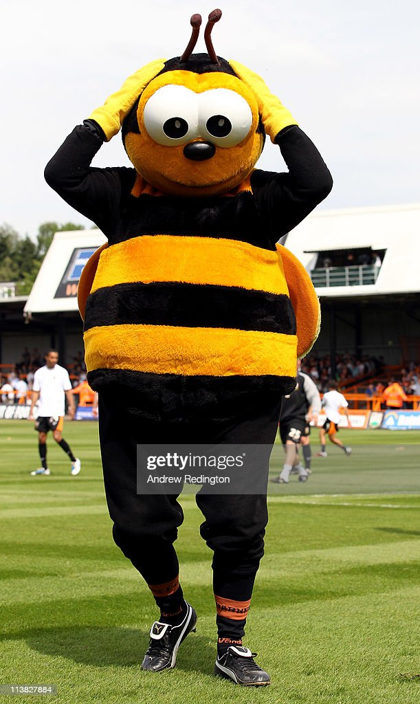 Barnet's mascot poses for a photograph prior to the start of the npower League Two match between Barnet and Port Vale at Underhill Stadium on May 7, 2011 in Barnet, England.