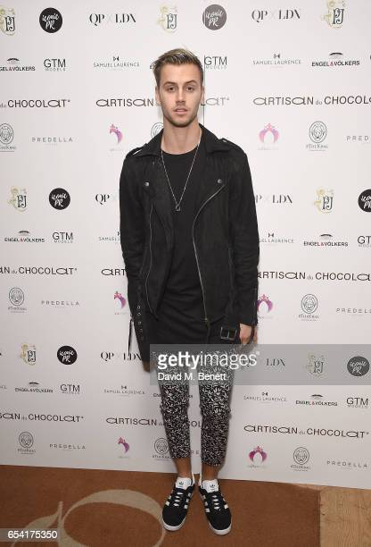 Barney Banks attends the ICONIC PR LND and PerrierJouët art presention of works by Picasso Miro Matisse Chagall at QP LDN on March 16 2017 in London...