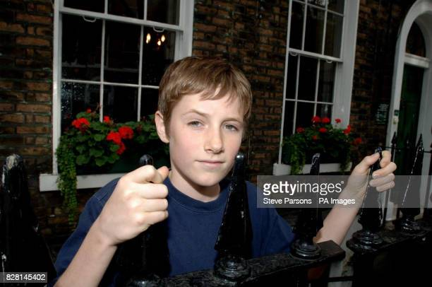 Barney Clark who plays Oliver at the photocall for Roman Polanski's new film Oliver Twist outside the Charles Dickens Museum Doughty St central...