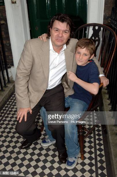 Barney Clark who plays Oliver with Jamie Foreman who plays Bill Sykes at the photocall for Roman Polanski's new film Oliver Twist outside the Charles...