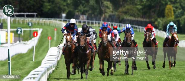 Barney Rebel ridden by Michael Hills wins after a tussle with Tullius ridden by Ian Morgan The Bet On totplacepot AT toteportcom Handicap Stakes...
