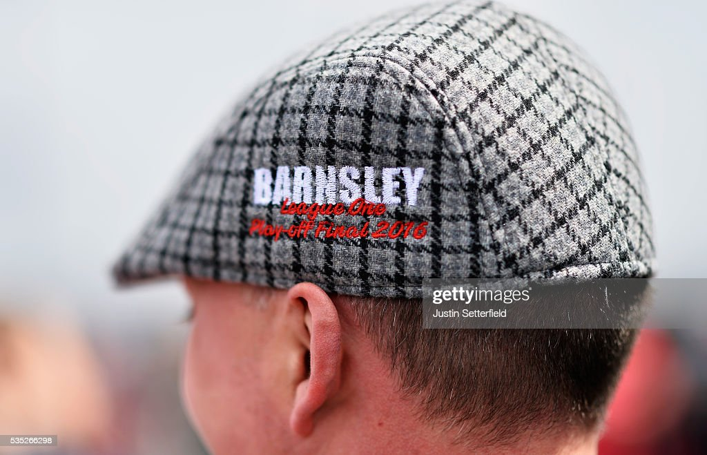 Barnsley fans ahead of the Sky Bet League One Play Off Final between Barnsley and Millwall at Wembley Stadium on May 29, 2016 in London, England.