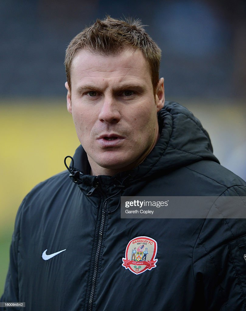 Barnsley manager David Flitcroft during the FA Cup Fourth Round between Hull City and Barnsley at KC Stadium on January 26, 2013 in Hull, England.