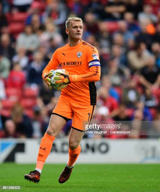 Barnsley's Adam Davies during the Sky Bet Championship match between Barnsley and Middlesbrough at Oakwell Stadium on October 14 2017 in Barnsley...