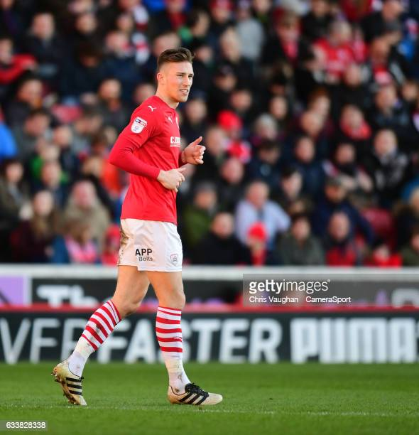 Barnsley's Angus MacDonald during the Sky Bet Championship match between Barnsley and Preston North End at Oakwell Stadium on February 4 2017 in...