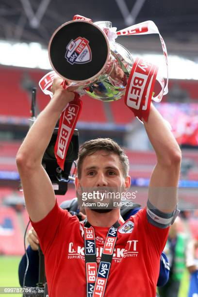 Barnsley's Conor Hourihane celebrates after the game