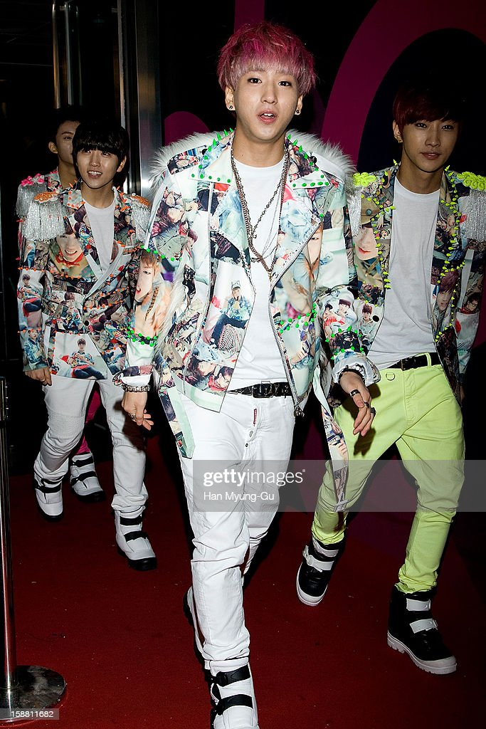 Baro of South Korean boy band B1A4 arrives at the 2012 SBS Korea Pop Music Festival named 'The Color Of K-Pop' at Korea University on December 29, 2012 in Seoul, South Korea.