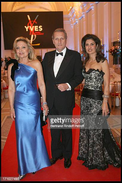 Baron and Baronne Gerard De Waldner and daughter at The Dinner Hosted At The Petit Palais To CoInside With The Retrospective Yves Saint Laurent